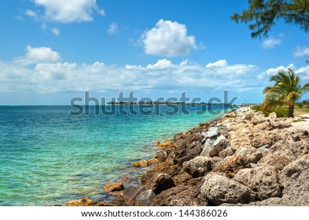 View from the Fort Zachary Taylor Historic State Park in Key West, Florida.
