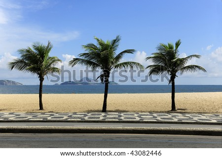 View from the Ipanema Leblon walkway in Rio de Janeiro, Brazil in a summer day.