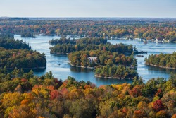 View from the 1000 Islands Tower, Ontario, Canada