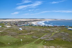 View from the lighthouse to the village of Cabo Polonio, Uruguay, South America