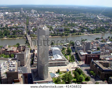 View from the Maintower in Frankfurt am Main, Germany