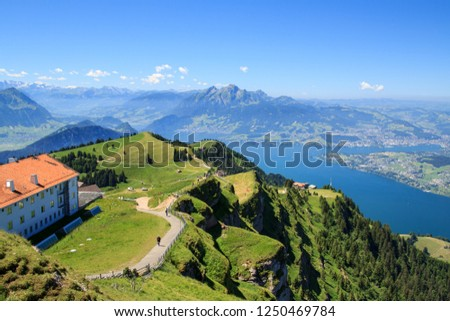View from the Mount Rigi, Lucerne, Switzerland Stock fotó ©