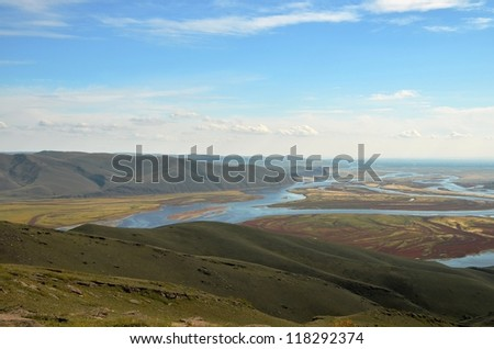 View from the mountain top of the river mouth