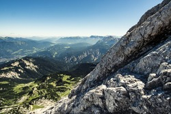 View from the North Face of the Alpspitze towards the Karwendel-Mountains, Bavaria