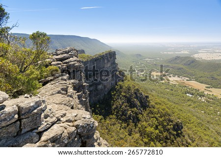 View from the Pinnacle of Halls Gap in the Grampians National Park, Victoria, Australia Stock photo ©