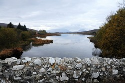 View from the Quiet Man Bridge County Galway, Ireland, featured in