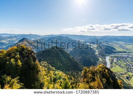 View from the road to the top of the three crowns Zdjęcia stock ©