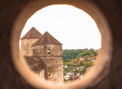 View from the round window of the castle.