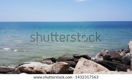 view from the sea,sky and sea,beautiful sea