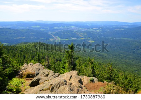 View from the summit of a mount Grosser Falkenstein in the National park Bayerische Wald, Germany. Stock foto ©