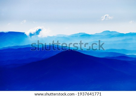 view from the summit of Mt.Iwate in spring, Iwate Prefecture, Japan Stock photo ©