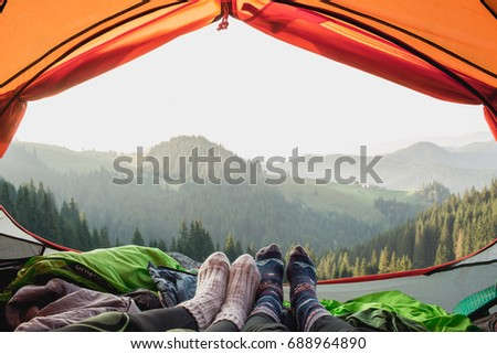 View from the tent #688964890