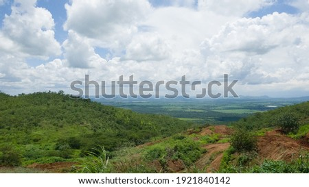 View from the top of a mountain at a gold mine in Shamva, Zimbabwe. Zdjęcia stock ©