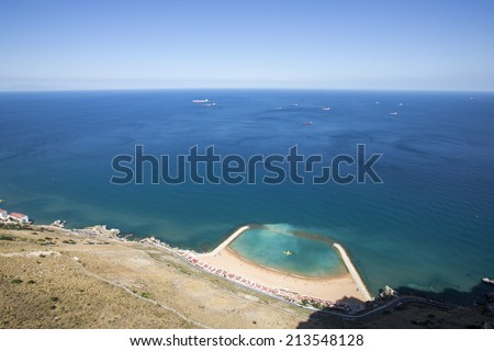 View from the top of Gibraltar Rock.
