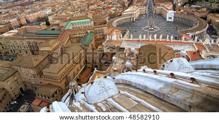 View from the top of St. Peter's basilica, Roma