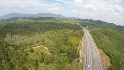 view from the top of the south malaysian highway.