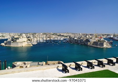 View from the Upper Baccarra Garden,Valletta, Malta