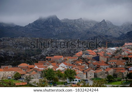 View from the village of Pitoes das Junias. Peneda-Geres National Park. Municipality of Montalegre. North of Portugal.	 Stock foto ©