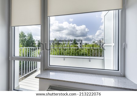 View from window in small, economic room