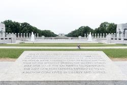 View from World War II Memorial, Washington DC