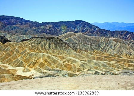 View from Zabriskie Point, Death Valley National Park, California