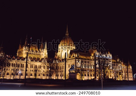 view historical building at night time