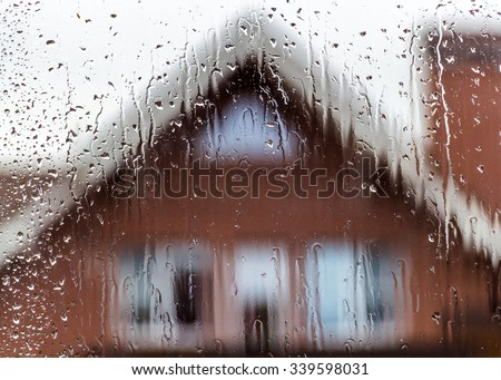 View in rainy weather