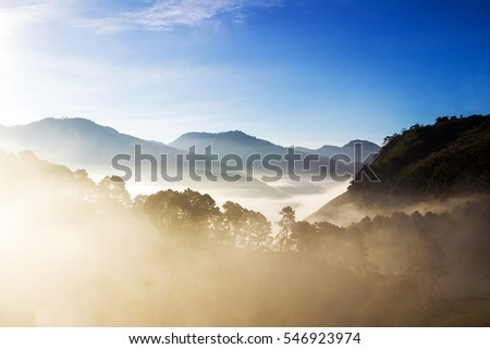 view in the morning at Angkhang, ChiangMai, Thailand - Shutterstock ID 546923974
