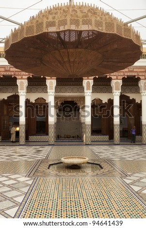 View inside Dar Si Said museum, Marrakesh, Morocco - stock photo