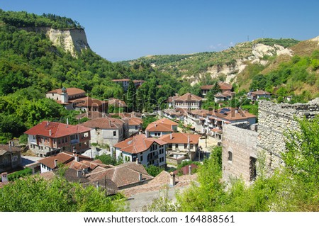 view Melnik village in Southern Bulgaria