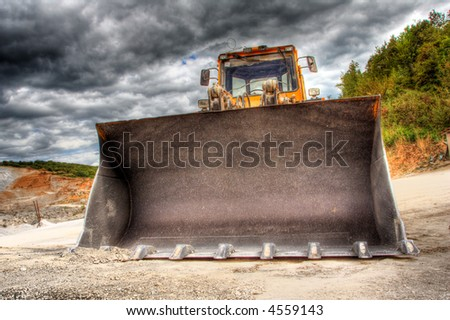 View of a bulldozer