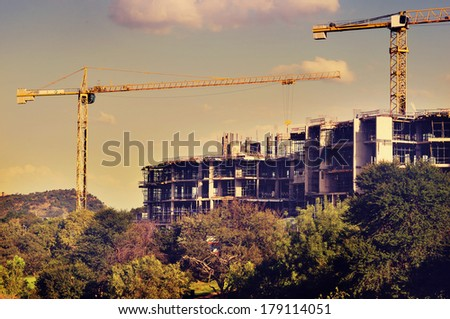 view of a construction site ...
