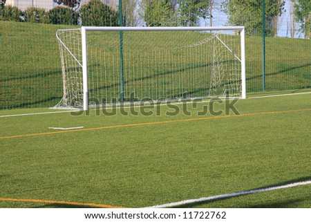 View of a football empty goal