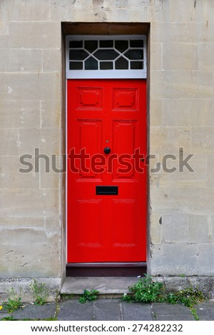 View of a Front Door of a Beautiful Old English Town House
