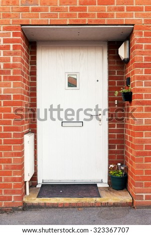 View of a Front Door of a London Town House
