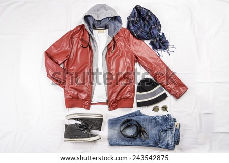 Shutterstock View of a male casual outfit.