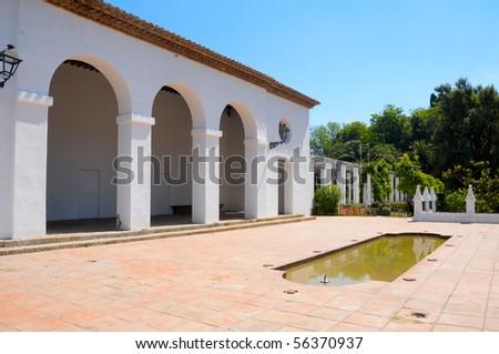 view of a mediterranean garden in Spain