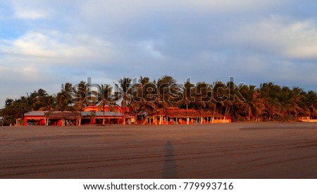 View of a mexican beach, Puerto Arista