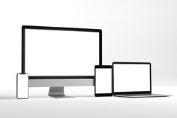 View of  a  Mock up of device - 3d rendering