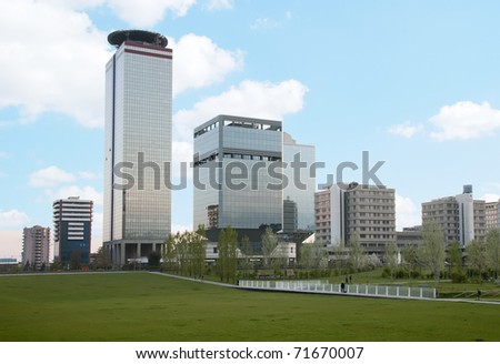 view of a modern cityscape