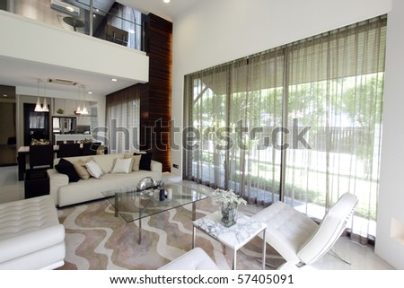 View of a modern living room