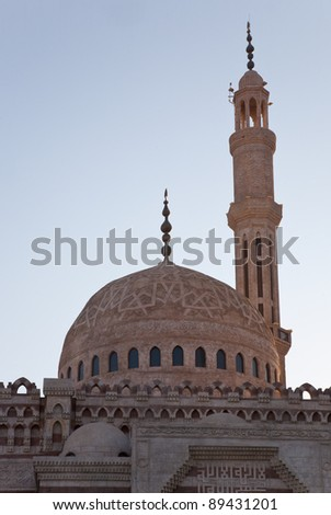 View of a mosque in Sharm-El-Sheikh, Egypt.