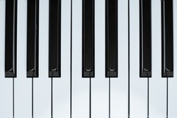 View of a nice wooden upright piano