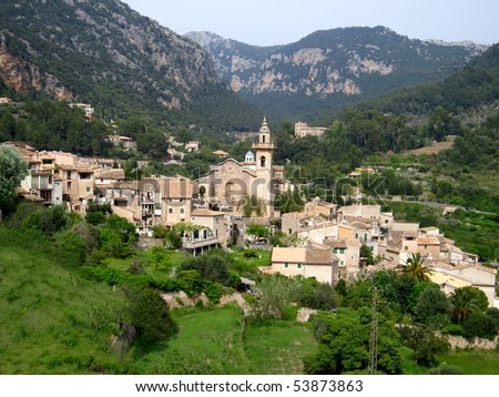 View of a romantic Spanish village
