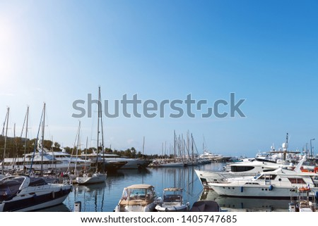 view of a sea port in the mediterranean sea #1405747685