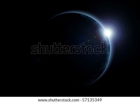 view of a solar eclipse