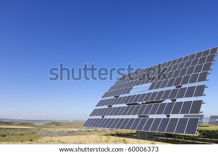 view of a solar field of renewable electricity production