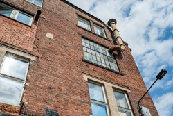 View of a typical old nostalgic industrial building in Leipzig in Germany