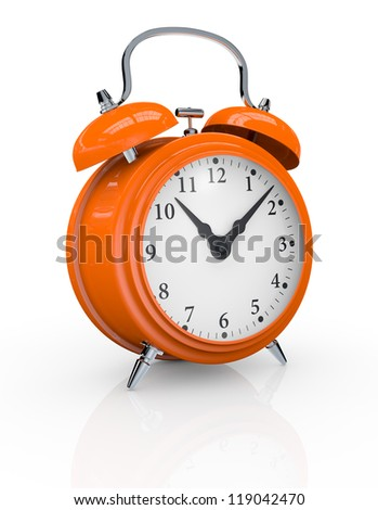 view of a vintage alarm clock (3d render)