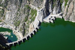 View of a water reservoir, of the Duero river, Espa